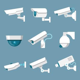 Conjunto de câmeras de segurança