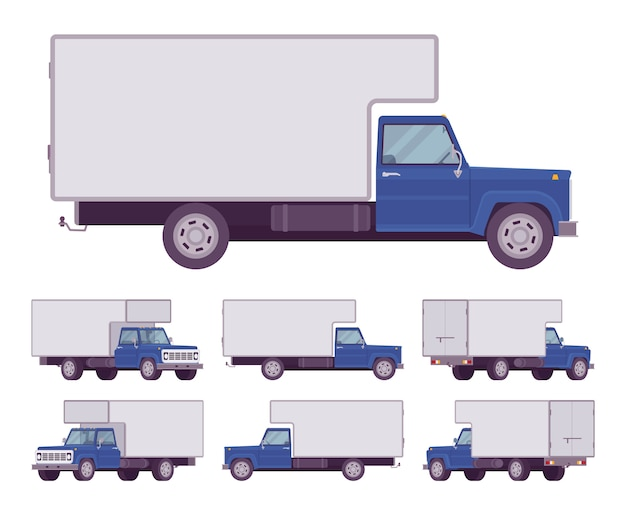 Conjunto de caminhão azul marinho