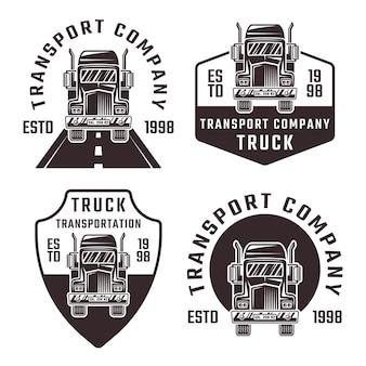 Conjunto de caminhão com quatro emblemas pretos