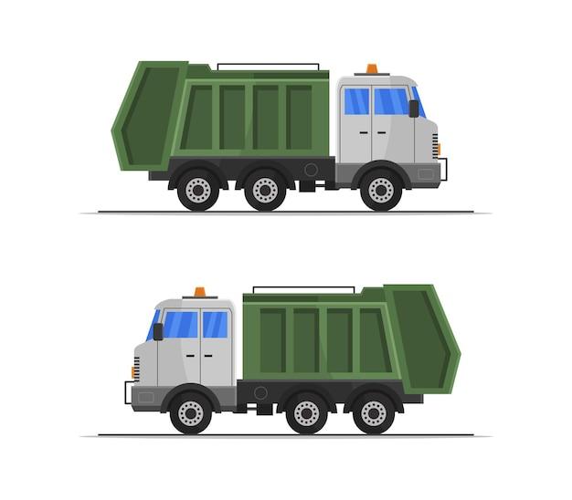 Conjunto de caminhão de lixo