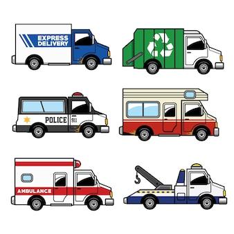 Conjunto de caminhão de serviço