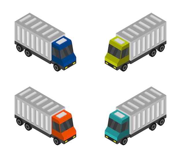 Conjunto de caminhão isométrico
