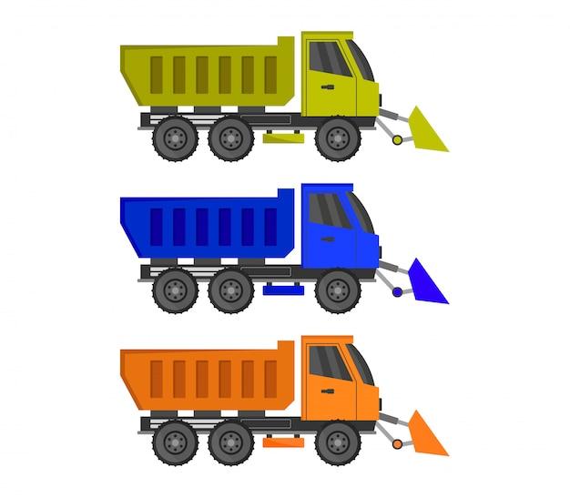 Conjunto de caminhão limpa-neve