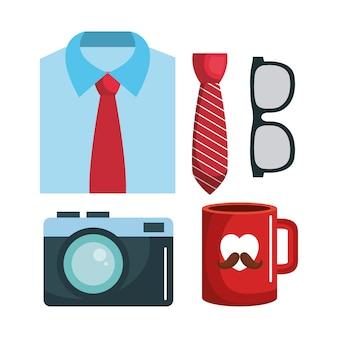 Conjunto de camisa formal e caneca