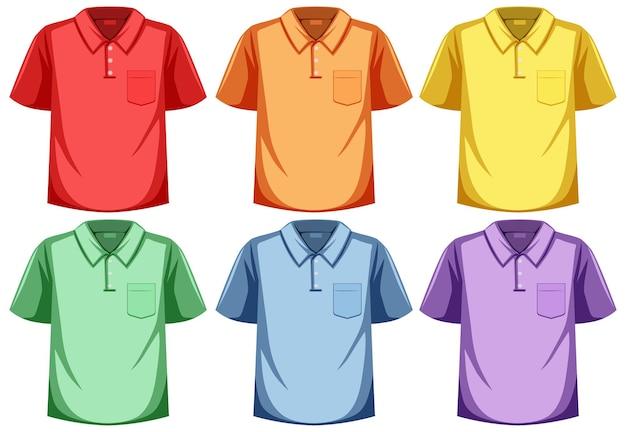 Conjunto de camisa pólo de cor diferente