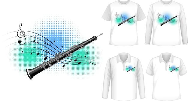 Conjunto de camisas com flauta