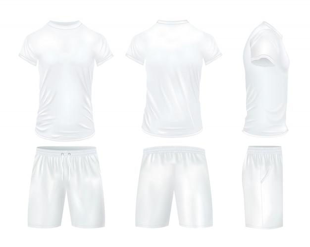 Conjunto de camisas e shorts