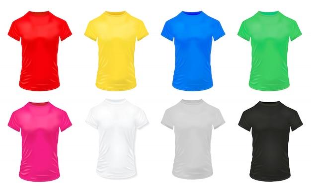 Conjunto de camisas esportivas coloridas
