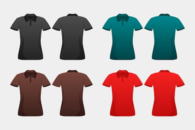 Conjunto de camisas polo coloridas