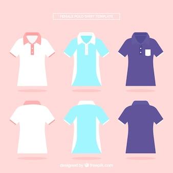 Conjunto de camisas polo femininas