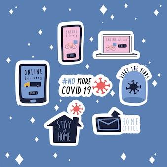 Conjunto de campanha de novas inscrições de norma conjunto de ícones de estilo simples ilustração design