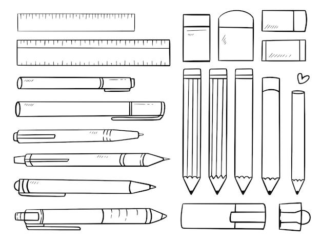 Conjunto de caneta lápis e conjunto estacionário