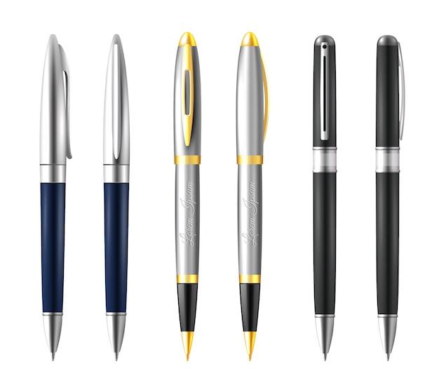 Conjunto de canetas de negócios