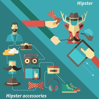 Conjunto de canto hipster