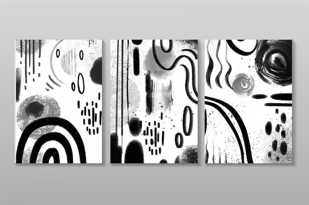Conjunto de capa abstrata incolor