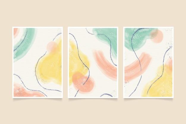 Conjunto de capa aquarela