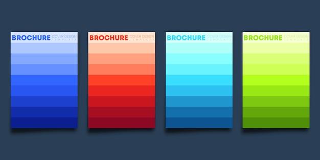 Conjunto de capa colorida gradiente