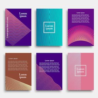 Conjunto de capa criativa com formas geométricas