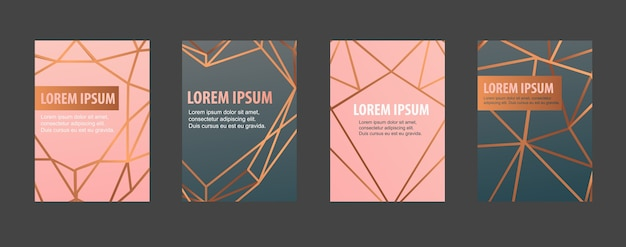 Conjunto de capa de brochura moderna