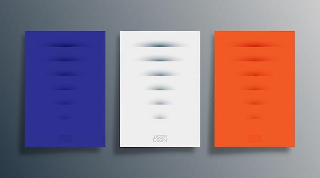 Conjunto de capa de desenho abstrato