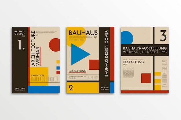 Conjunto de capa de design gráfico
