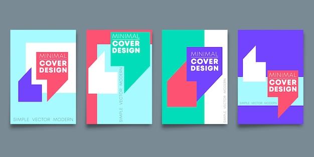 Conjunto de capa de design minimalista