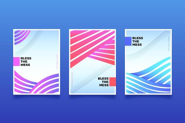 Conjunto de capa de formas abstratas gradientes