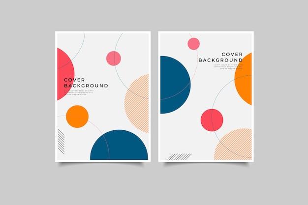 Conjunto de capa de livro geométrica