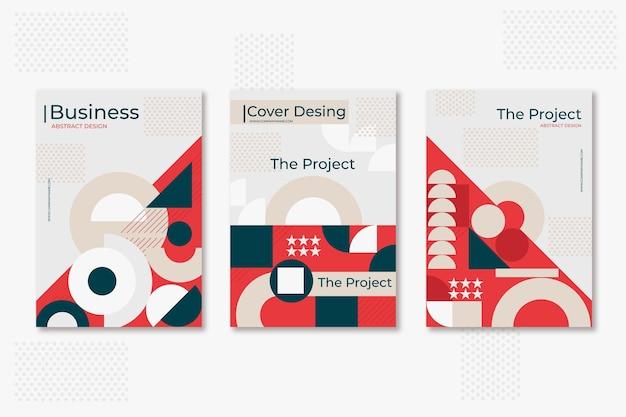 Conjunto de capa de negócios pós-modernos