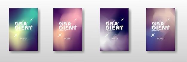 Conjunto de capa na moda gradiente abstrata