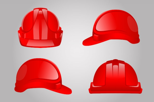 Conjunto de capacete red constuction