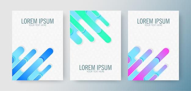 Conjunto de capas abstratas gradientes