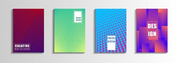 Conjunto de capas abstratas modernas.