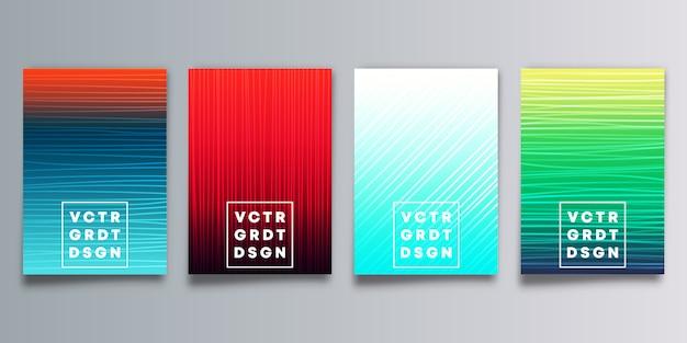 Conjunto de capas coloridas de gradiente