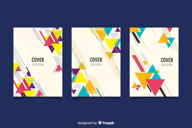 Conjunto de capas com desenho geométrico