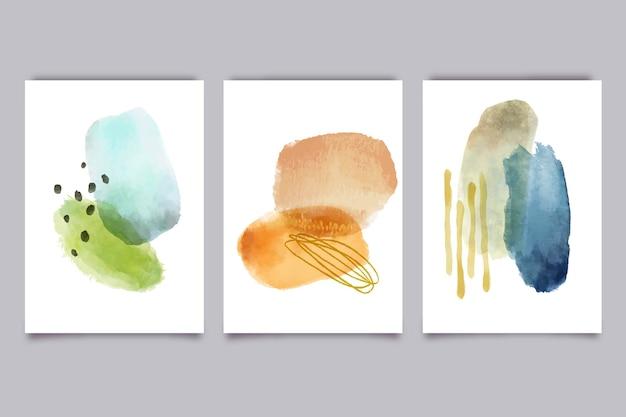 Conjunto de capas com formas abstratas