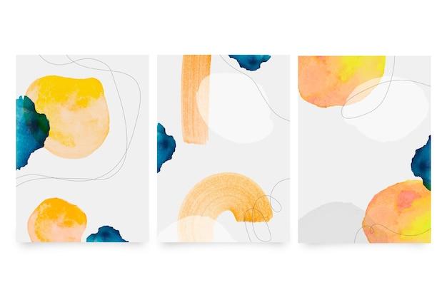Conjunto de capas de aquarela
