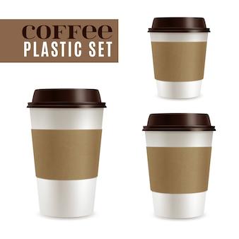 Conjunto de capas de café