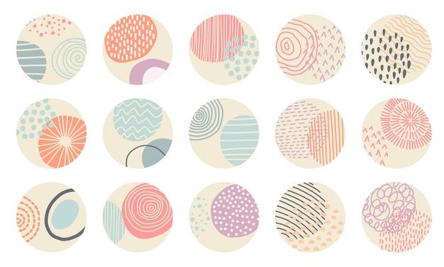Conjunto de capas de círculos em destaque