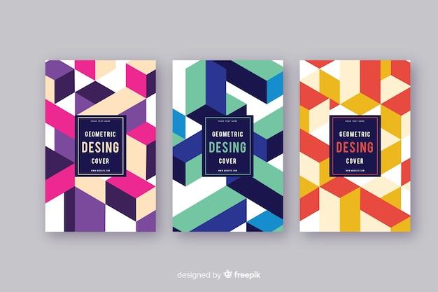Conjunto de capas de desenho geométrico