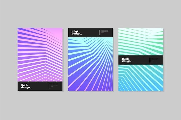 Conjunto de capas de gradiente abstrata