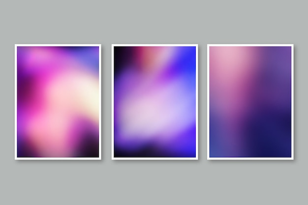Conjunto de capas desfocadas abstratas de gradiente