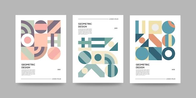 Conjunto de capas geométricas abstratas