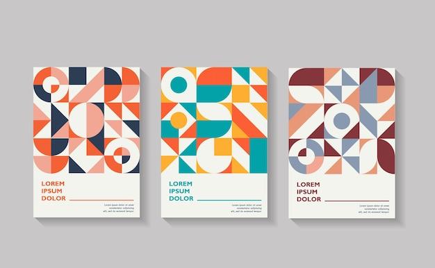 Conjunto de capas geométricas coleção de capas vintage legais