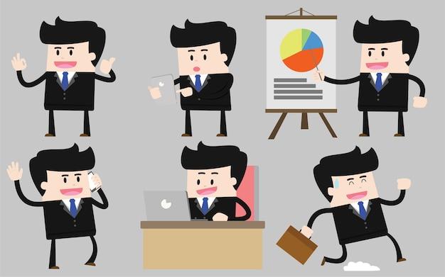 Conjunto de caractere de empresário