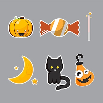 Conjunto de caractere de halloween.