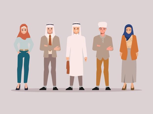 Conjunto de caracteres árabes e muçulmanos