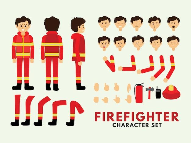 Conjunto de caracteres bombeiro
