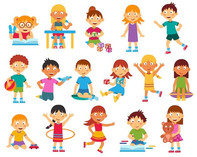 Conjunto de caracteres crianças