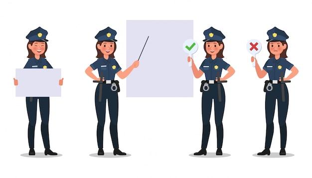 Conjunto de caracteres da polícia